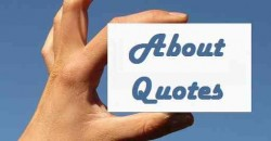 about quotes