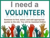 volunteer wanted